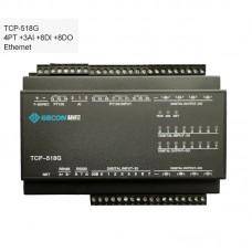 4PT100 + 3AI + 8DI + 8DO Data Acquisition Ethernet IO Module TCP-518G [Ethernet Communications]