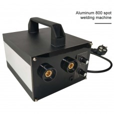 Spot Welding Machine Handheld Spot Welder Soldering Machine Adjustable Current for 18650 Battery (Aluminum 800)