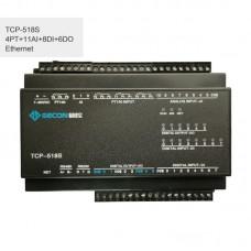 4PT100 + 11AI + 8DI + 6DO Industrial Controller Ethernet IO Module TCP-518S Ethernet Communications