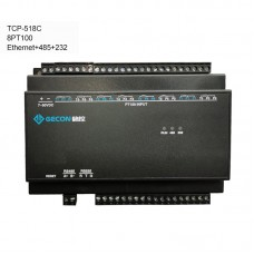 TCP-518C Industrial Controller Data Acquisition Collect Temperature 8PT100 + Ethernet + RS485 + RS232