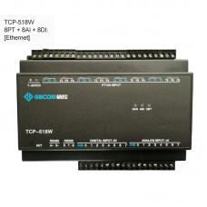 8PT100 + 8AI + 8DI Industrial Controller Data Acquisition Module TCP-518W [Ethernet Communications]