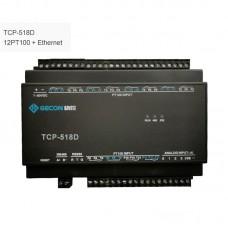 12PT100 Collect Temperature Industrial Controller Data Acquisition TCP-518D Ethernet Communications