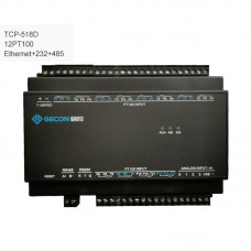 12PT100 Collect Temperature Industrial Controller Data Acquisition TCP-518D Ethernet + RS232 + RS485