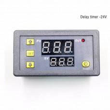 DC 24V Multifunctional Delay Timer Infinite Loop Delay Dual Digital Display Time Relay Module