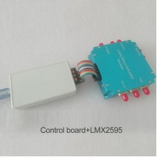 LMX2595 Module Frequency Synthesizer Development Board PLL 10M-20GHz with Case USB Control Board