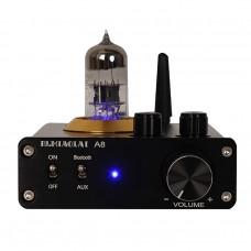 PJ.MIAOLAI A8 Mini HiFi Power Amplifier Bluetooth 5.0 Tube Amplifier 3.5AUX Stereo + Bluetooth Input