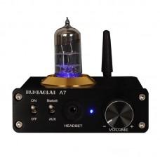 PJ.MIAOLAI A7 Mini HiFi Power Amplifier Bluetooth 5.0 Tube Amp Headphone Amp 2 Groups Audio Input