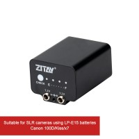 ZITAY External Battery Dummy Battery Power Supply For Canon 100D/Kiss/X7 SLR Using LP-E15 Battery