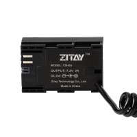 ZITAY DC To LP-E6 Dummy Battery External Power Supply Power Cord Cable For Canon 5D2/5D4/70D/80D