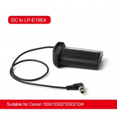 ZITAY DC To LP-E19 LP-E4 Dummy Battery External Power Cable Cord For Canon 1DX/1DX2/1DX3/1D4