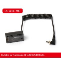 ZITAY DC To BLF19E Dummy Battery Power Cable Cord Accessories For Panasonic Cameras GH4/GH5/GH5S