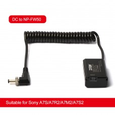 ZITAY DC To NP-FW50 Dummy Battery External Power Cable Power Cord For Sony A7S/A7R2/A7M2/A7S2