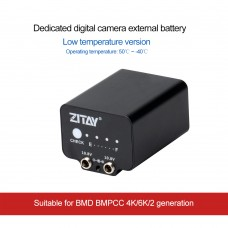 ZITAY Digital Camera External Battery Low Temperature Resistant For BMD BMPCC 4K 6K 2nd Generation