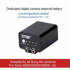 ZITAY Low-Temperature Mobile External Battery Dummy Battery For Sony A6 Series A6000 A6300 A6500 SLR