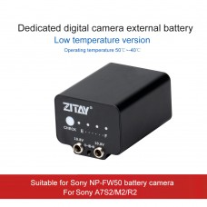 ZITAY Low-Temperature Mobile External Battery Dummy Battery For Sony A7S2/M2/R2 Using NP-FW50 Battery