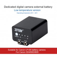 ZITAY Low-Temperature Mobile External Battery Dummy Battery For Canon 5D4/60D/80D Using LP-E6 Battery