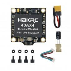 HAKRC 40A 4 in 1 ESC BLHeli-S DShot600 2-6S LiPo 5V/2A BEC for RC Racing Drone FPV
