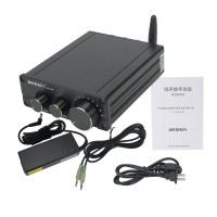 200W HiFi Power Amplifier Bluetooth 5.0 Stereo Power Amplifier PA-04 with 19V 4.74A Power Adapter