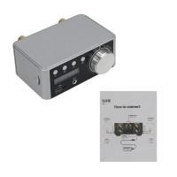 Bluetooth 5.0 Digital Power Amplifier HiFi Class D Stereo Amplifier 50Wx2 USB TF Card Aux Player