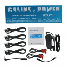 Caline P1 Guitar Pedal Power Supply Effect Pedal Power 8 Channels Isolated Output 9V/12V/15V/18V