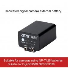 ZITAY External Battery Power Supply For Fuji GFX50S 50R GFX100 Mirrorless Cameras Using NP-T125