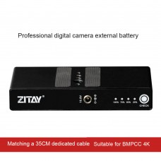 ZITAY For BMD BMPCC 4K 6K Quick Release Plate External Battery Power Cable Power Cord LP-E6N
