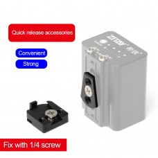 ZITAY Quick Release Fixing Accessories 1/4 Screws Photography Mounting Parts For External Battery