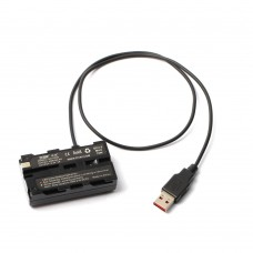 ZITAY USB To NP-F550/970/750 Dummy Battery USB Power Cable Monitor Power Cord Photography Accessories