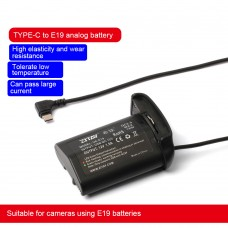 ZITAY Type C USB To LP-E19 E4 Dummy Battery Power Cable Power Cord For 1DX/1DX2/1DX3/1D4 Using LP-E19
