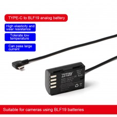 ZITAY Type-C To DMW-BLF19E Dummy Battery Power Cable Perfect For DMC-GH4 GH5S GH3 Cameras Using BLF19