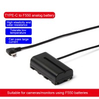 ZITAY Type-C USB PD To NP-F550 Dummy Battery Power Cable Power Cord Perfect For F550/F970/F750