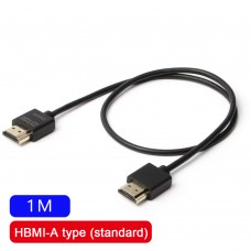 ZITAY 1M Type A Plug (HDMI) HDMI 2.0 Cable Video Transmission Cable Super Soft Cord 4K 60P For SLR