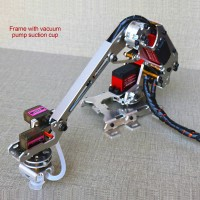 6 Axis Robotic Arm Multi-DOF Manipulator Industrial Mechanical Arm DIY Kit w/ Vacuum Pump Sucker Unassembled