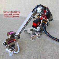 6 Axis Robotic Arm Multi-DOF Manipulator Industrial Mechanical Arm DIY Kit w/ Servo Vacuum Pump Sucker