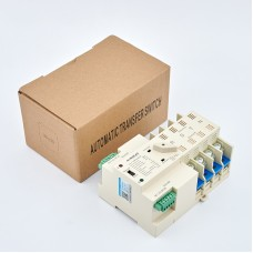 Maxgeek ASKQ-63A 4P ATS Automatic Transfer Switch Dual Power Electrical Selector Switch PC Grade