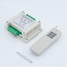 Maxgeek Generator 5 Ways Remote Start Stop Control Unit Genset Control Module Controller w/ Antenna