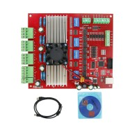 MACH3 USB 4 Axis Breakout Board 100KHz CNC Interface Driver Motion Controller Driver Board