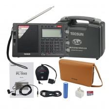 For Tecsun Radio PL-990 Portable Full Band Radio Receiver FM LW MV SW SSB Radio DSP Music Speaker