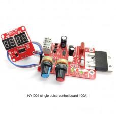 NY-D01 Single Pulse Spot Welder Controller Spot Welding Controller Time Current Digital Display 100A
