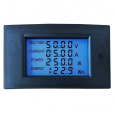 WZ-DM20 DC Digital Power Monitor Energy Meter 100V 20A High-Precision Voltage Current Power Meter