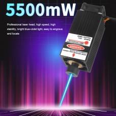 450nm 5.5W 5500mW High Power Laser Module Laser Head Kit For CNC Laser Cutting DIY Engraving Machine