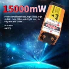 450nm 15W 15000mW High Power Laser Module Laser Head Kit For CNC Laser Cutting DIY Engraving Machine