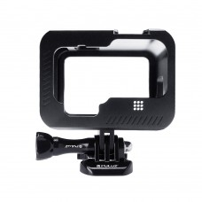 PU519B Aluminum Alloy Camera Cage Rig Protective Case w/ Buckle Mount Screw For GoPro HERO 9 Black