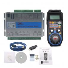3-Axis Mach3 Motion Controller 2MHz Ethernet Breakout Board MK3-V + 4-Axis MPG Handwheel Pendant