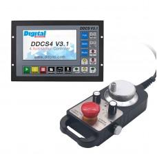 4-Axis CNC Motion Controller Offline DDCS V3.1 + CNC 4-Axis MPG Pendant Handwheel 5V 100PPR