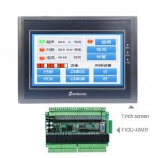 "For Samkoon EA-070B 7"" HMI Touch Screen 800*480 + FX3U-48MR PLC Industrial Controller Board"