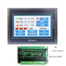 "For Samkoon EA-070B 7"" HMI Touch Screen 800*480 + FX3U-56MR PLC Industrial Controller Board"