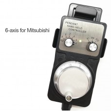 6 Axis MGP CNC Handwheel Manual Pulse Generator For Mitsubishi CNC Machine Tool Engraving Machines