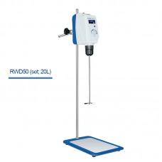 RWD50 20L Overhead Mixer Laboratory Mixer Overhead Stirrer Mixer Kit 30-2200RPM w/ LCD Display