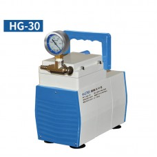 Oil-Free Lab Diaphragm Vacuum Pump HG-30 30L/min 150mbar Normal Type One Gauge Negative Pressure